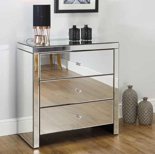 Belfast Mirrored 3 Drawer Chest
