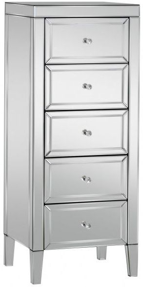 Coventry Mirrored 5 Drawer Chest
