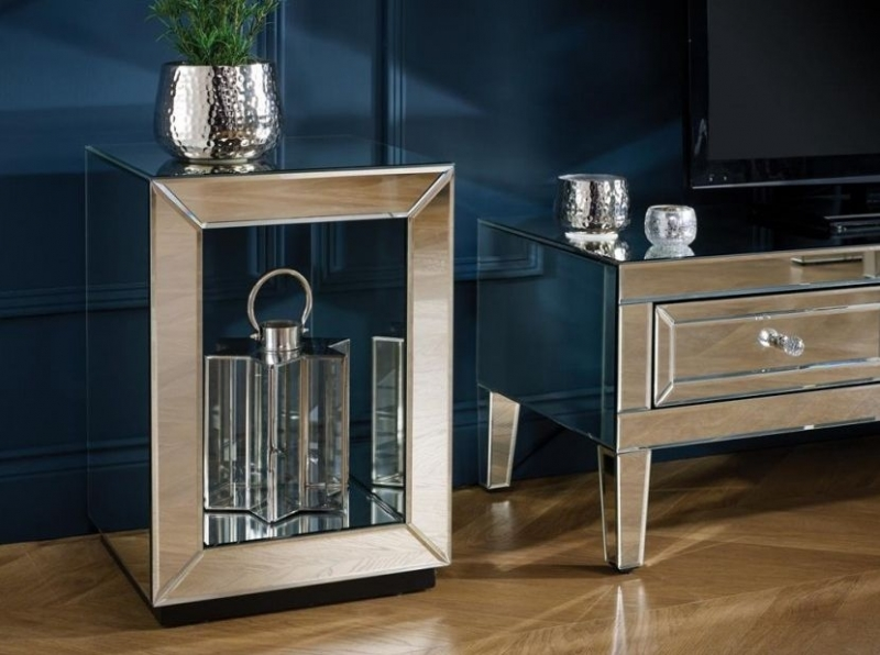 Coventry Mirrored Lamp Table