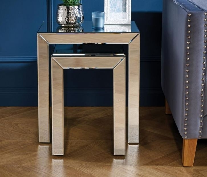 Coventry Mirrored Nest of Tables
