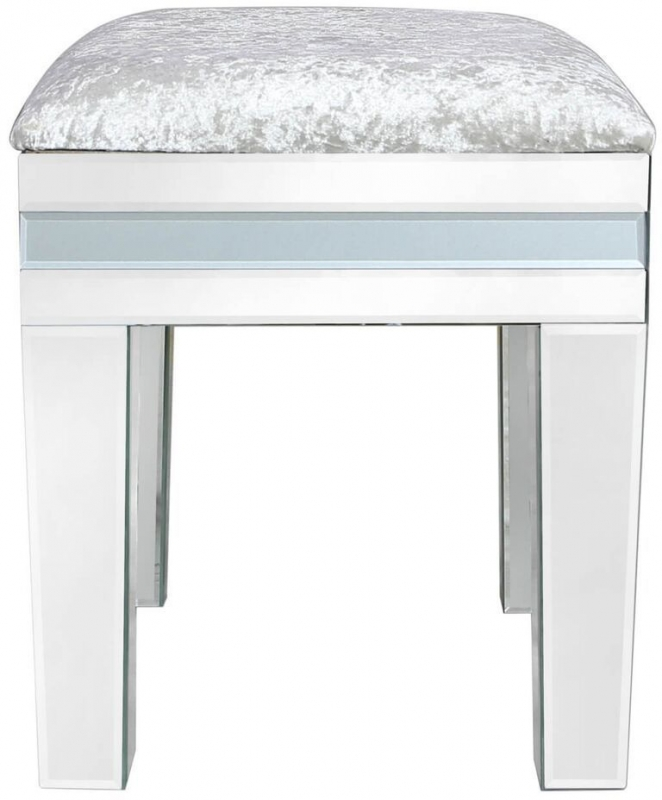Boston Grey Mirrored Stool