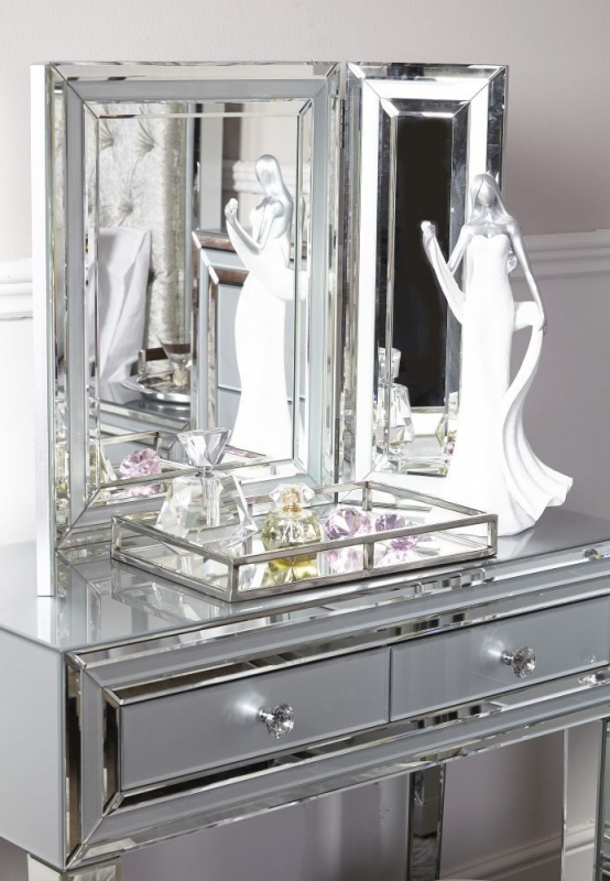 Boston Grey Vanity Mirror