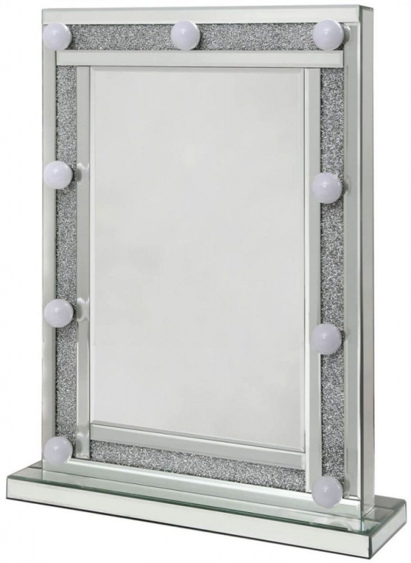 Acme Broadway Rectangular Vanity Mirror with 9 Lights