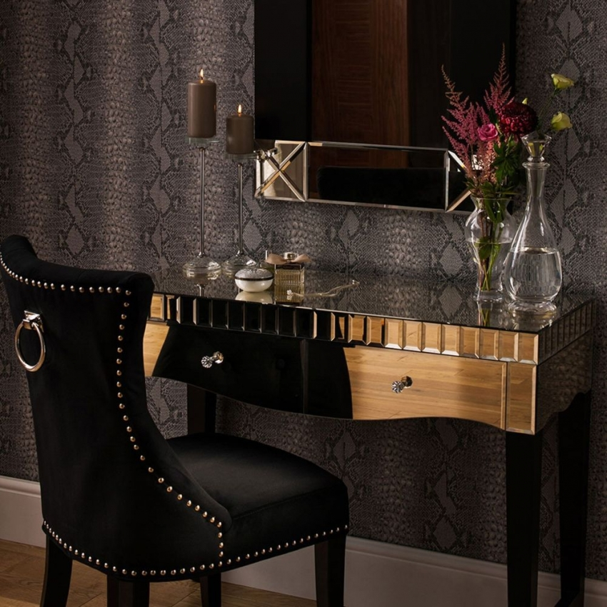 Diego Mirrored Console Table