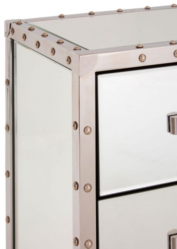 Antonio Mirrored Bedside Cabinet