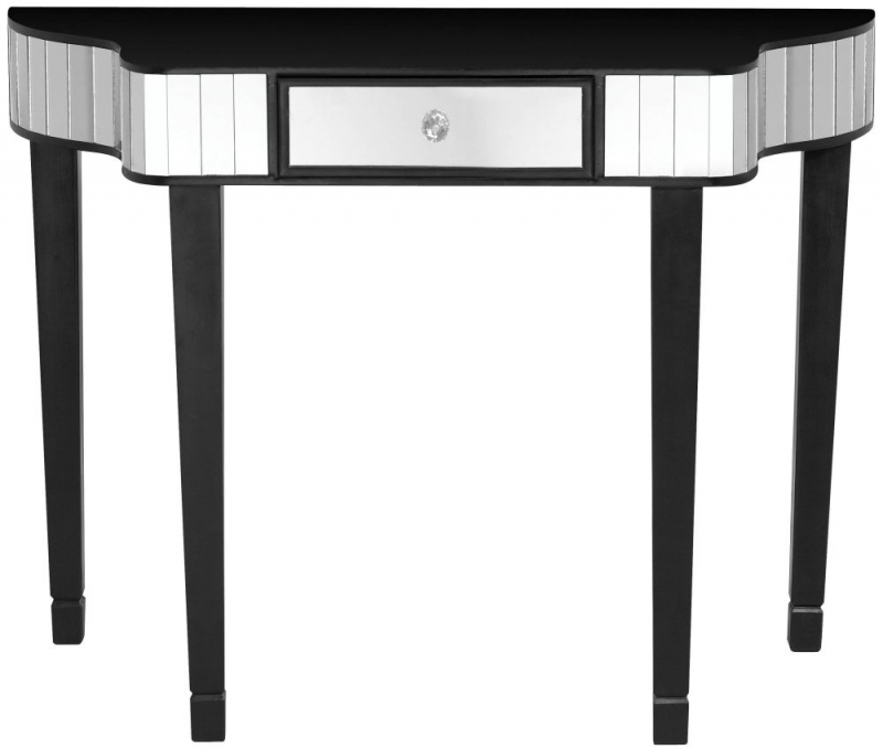 Vegas Black Glass Console Table