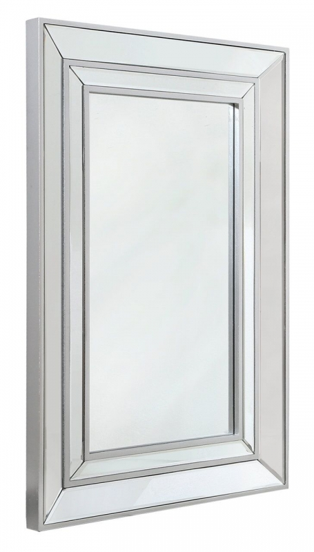 Shore Silver Rectangular Wall Mirror