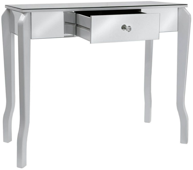 Bayside White Mirrored Console Table