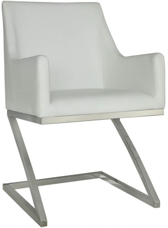 Willow White Faux Leather Dining Chair (Set of 4)