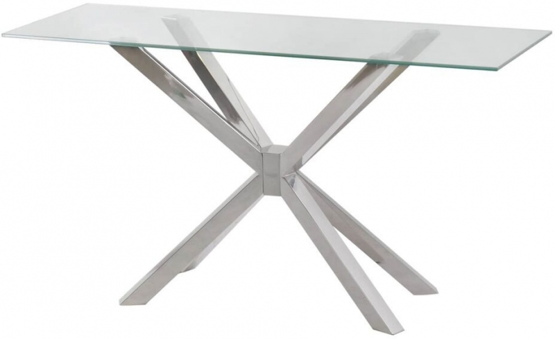 Willow Glass Console Table