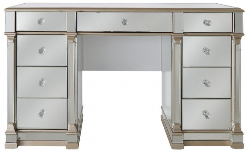 Grayton Champagne Mirrored Dressing Table