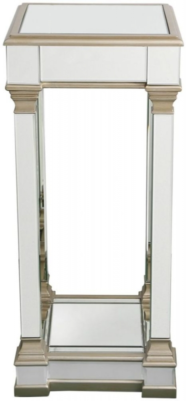 Grayton Champagne Mirrored Large Telephone Table