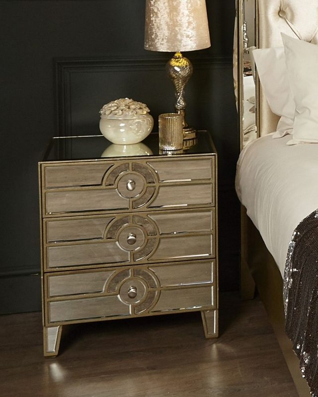 Zuo Mirrored Bedside Cabinet
