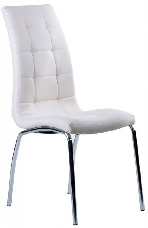 Saint White Faux Leather Dining Chair (Pair)