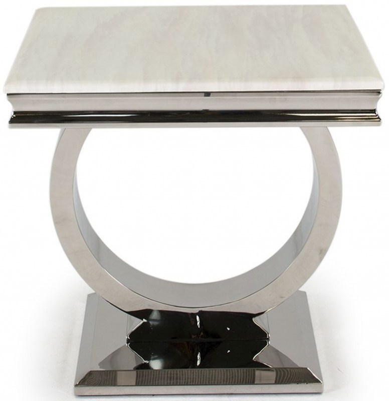 Tucson Cream Marble Lamp Table