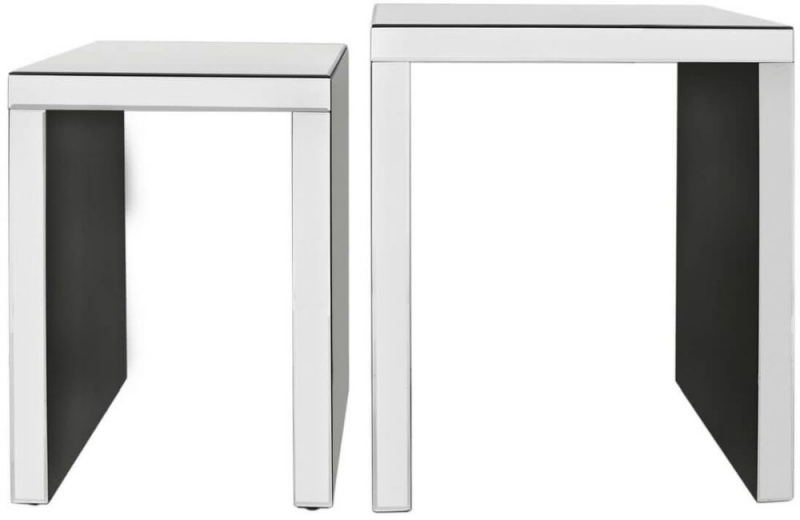 Charlotte Mirrored Nest of Table
