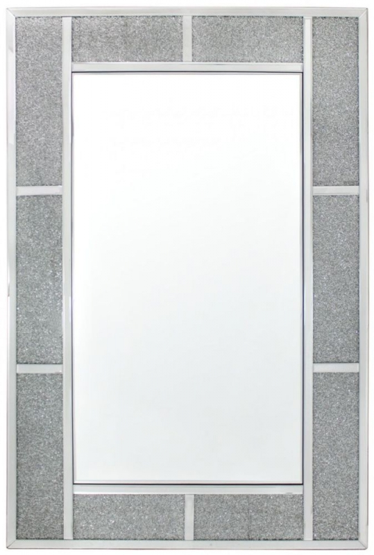 Acme Crystal Brick Effect Wall Mirror - 120cm